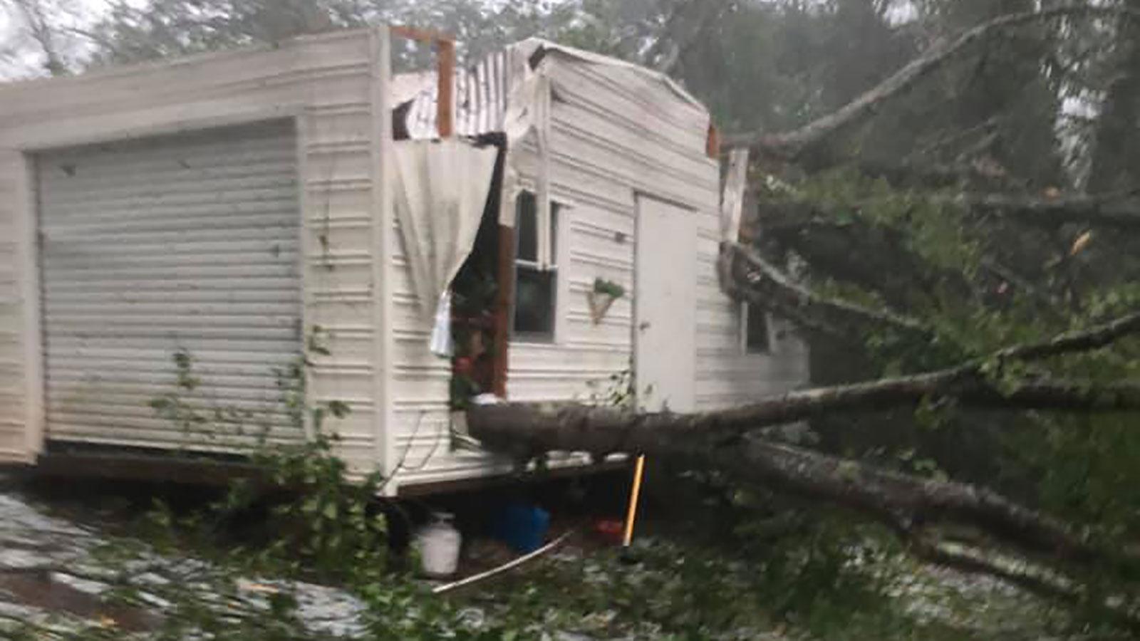 tornado damages
