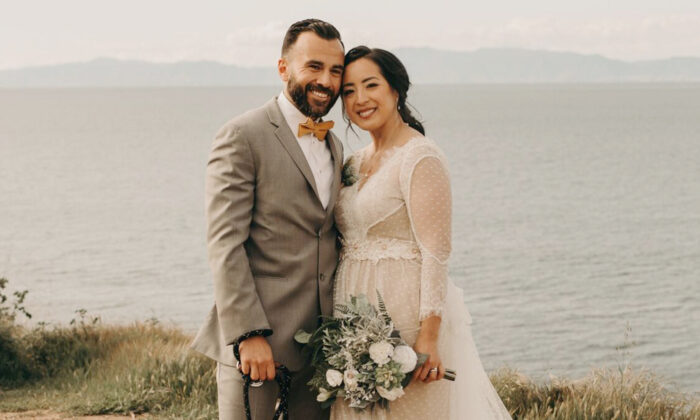 """Johanna Patricia and Miguel Delgado got married on March 21. Despite the last minute re-planning, things were """"perfectly imperfect,"""" she said. (Courtesy of Johanna Patricia)"""