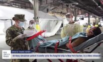 US Navy releases video of patient transfer simulation onto hospital ship docked in New York