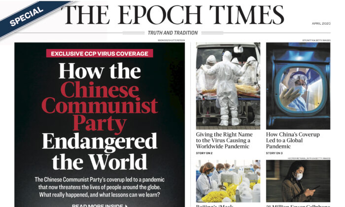 "The Epoch Times Special Edition ""How the Chinese Communist Party Endangered the World."" (Epoch Times)"