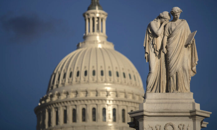 The U.S. Capitol is seen in the background of a photo taken in Washington, on March 22, 2019. (Drew Angerer/Getty Images)