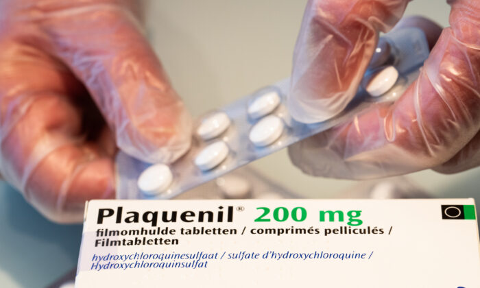 Plaquenil (hydrochlorquine) tablets in a pharmacy on April 6, 2020. (Benoit Doppagne/BELGA MAG/AFP via Getty Images)