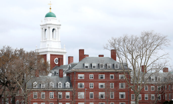 The Harvard University campus in Cambridge, Mass., on March 23, 2020. (Maddie Meyer/Getty Images)