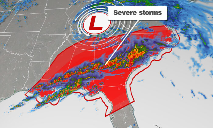 Severe Weather Graphic. (Courtesy of CNN Weather)