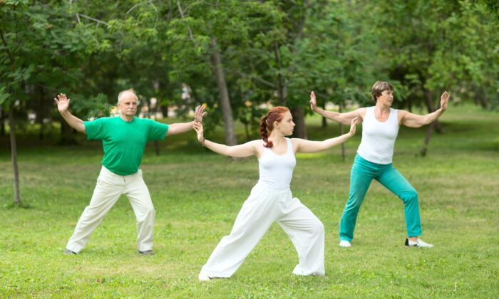 Tai chi is a slow, flowing exercise made up of choreographed movements.(Ulza/Shutterstock)