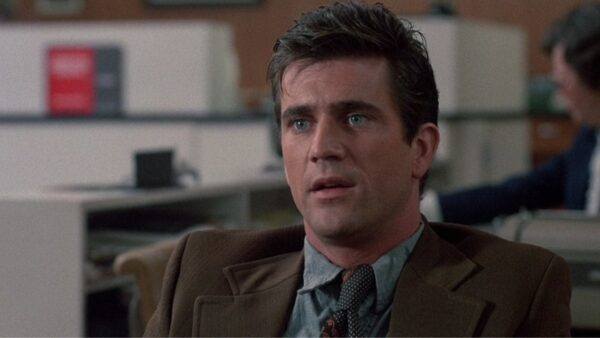 Mel Gibson in his first starring role in an American film