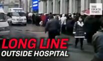Long line of Patients With Appointments Outside of Hospital in Harbin