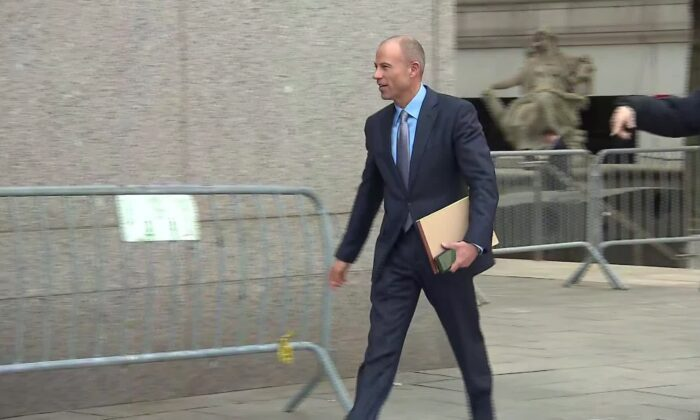 Michael Avenatti, the celebrity attorney whose clients include adult film star Stormy Daniels, has been released from a New York jail as he begins a temporary reprieve from detention because of CCP virus pandemic fears. (CNN Photo)