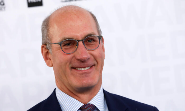 John Stankey, CEO of WarnerMedia, poses as he arrives at the WarnerMedia Upfront event in New York City, New York, on May 15, 2019. (Mike Segar/Reuters)
