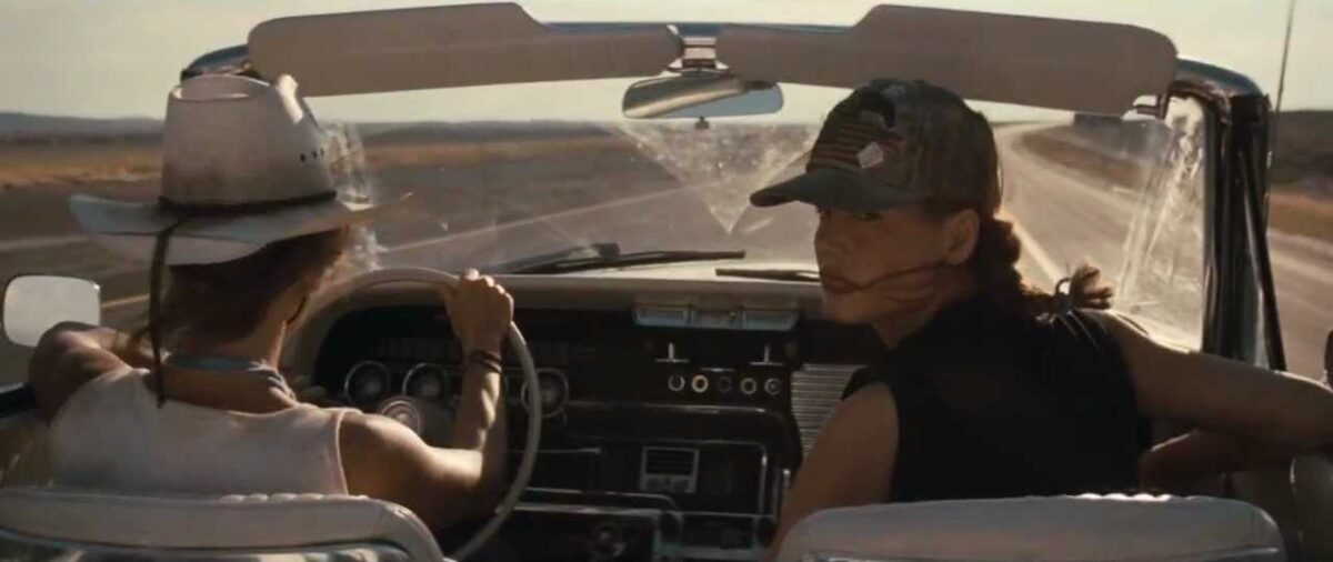 """two women in car in """"Thelma & Louise"""""""
