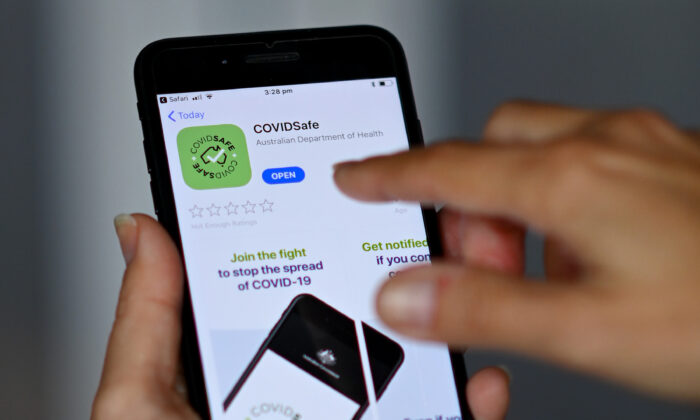 (COVID-19) tracking app 'COVIDSafe', Melbourne, Australia, April 26, 2020. (Quinn Rooney/Getty Images)