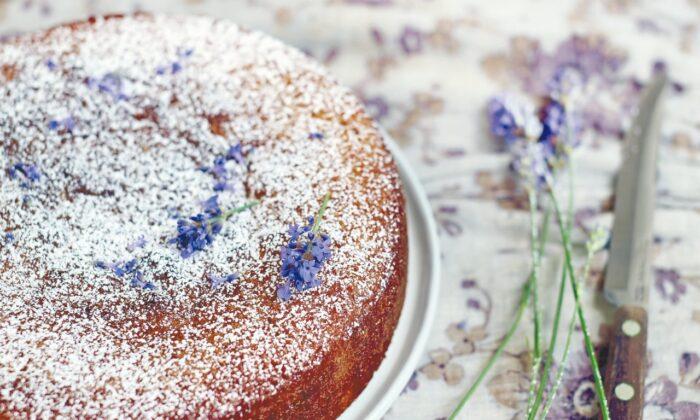 Diana Henry's lemon and lavender cake. (Laura Edwards)