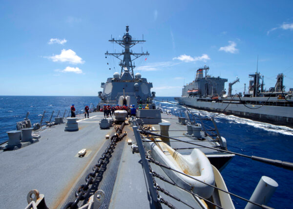 USS Kidd receives fuel