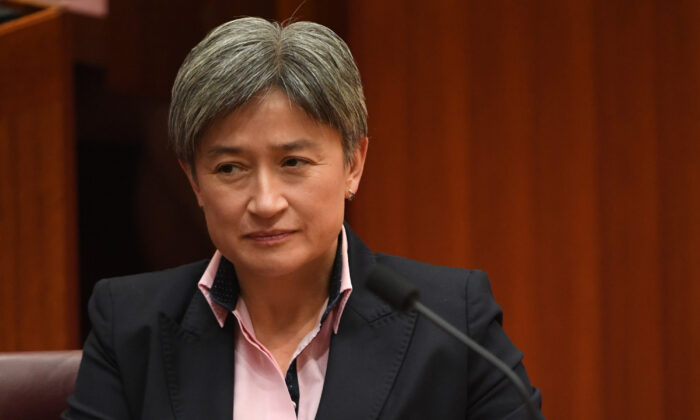 Australian Sen. Penny Wong in the Senate at Parliament House in Canberra, Australia, on Dec. 2, 2019. (Tracey Nearmy/Getty Images)