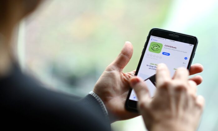 The Australian government coronavirus (COVID-19) tracking app 'COVIDSafe' is seen on April 26, 2020 in Melbourne, Australia. (Photo by Quinn Rooney/Getty Images)