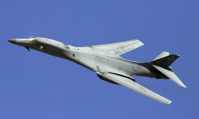 A B-1B Lancer flies by at the Nevada Test and Training Range near Indian Springs, Nev., on Sept. 14, 2007.  A new recommendation for spending cuts to the federal budget includes retiring the B-1 bomber. (Ethan Miller/Getty Images)