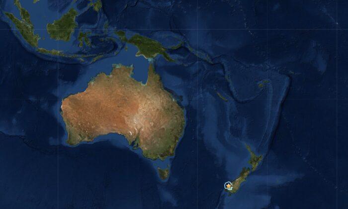 5.1 magnitude earthquake strikes New Zealand's South Island on April 27, 2020. (USGS)