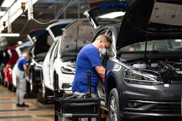 Volkswagen Resumes Automobile Production At Wolfsburg Plant During The Coronavirus Crisis