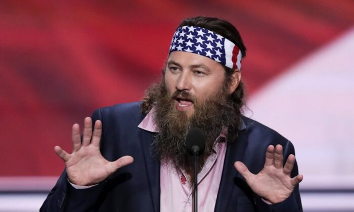 Willie Robertson, CEO of Duck Commander and Buck Commander speaks during the opening day of the Republican National Convention in Cleveland on July 18, 2018. (J. Scott Applewhite, File/AP Photo)
