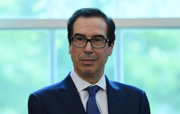 U.S. Treasury Secretary Steven Mnuchin looks