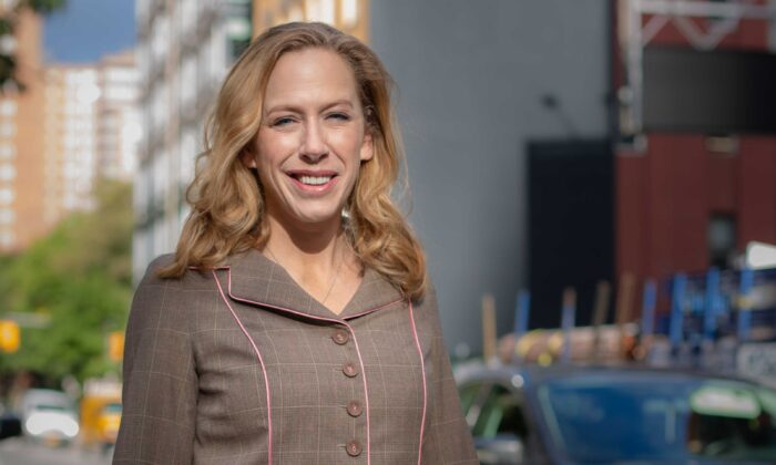 """Kimberley Strassel, author of """"Resistance (At All Costs): How Trump Haters Are Breaking America,"""" in New York City on Oct. 18, 2019. (Brendon Fallon/The Epoch Times)"""