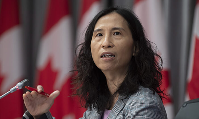 Chief Public Health Officer Theresa Tam of Canada speaks during a technical briefing, Tuesday, April 28, 2020 in Ottawa.  (Adrian Wyld/The Canadian Press)