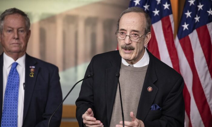 House Foreign Affairs Chairman Rep. Eliot Engel (D-N.Y.) speaks in Washington on Jan. 28, 2020. (Samuel Corum/Getty Images)