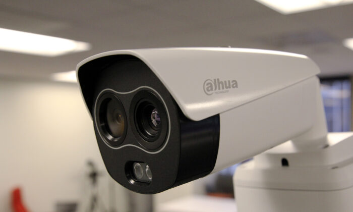 A Dahua Technology thermal imaging camera is seen during a demonstration of the camera at an office in San Francisco, Calif., on April 24, 2020. (Nathan Frandino/ Reuters)
