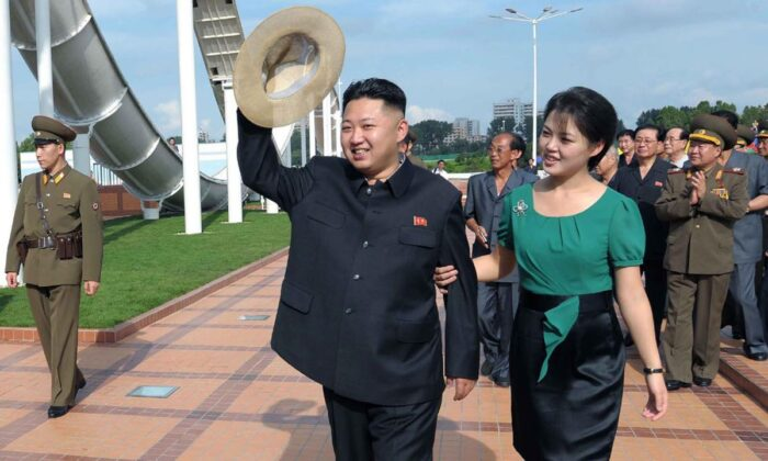 Kim Jong Un and Ri Sol Ju in a file photo. (KCNA)