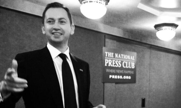 Sergei Millian in the National Press Club in Washington, D.C., in February 2014. (Sergei Millian)