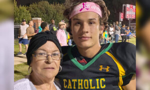 High School Football Player Surprises Grandma Fighting Breast Cancer With Touching Tribute During a Game