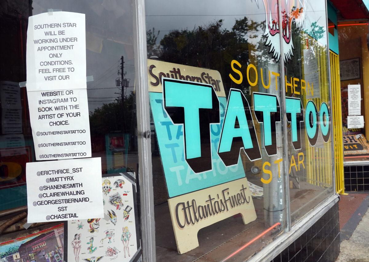 Tattoo parlor, Atlanta, Georgia