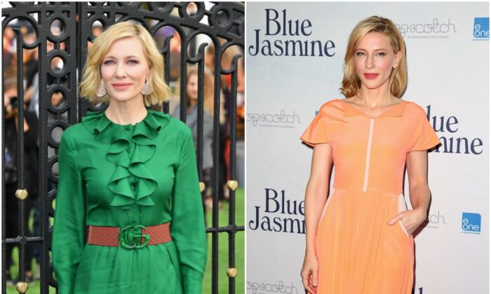 Cate Blanchett. (Jeff Spicer/Getty Images; Brendon Thorne/Getty Images)