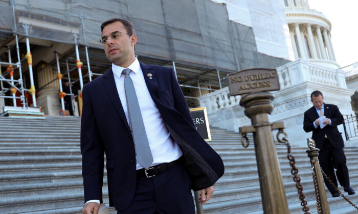 Rep. Justin Amash (I-MI) at the U.S. Capitol in Washington, on July 10, 2019. (Jonathan Ernst/Reuters)