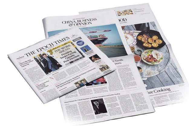 Epoch Times newspapers. (The Epoch Times)