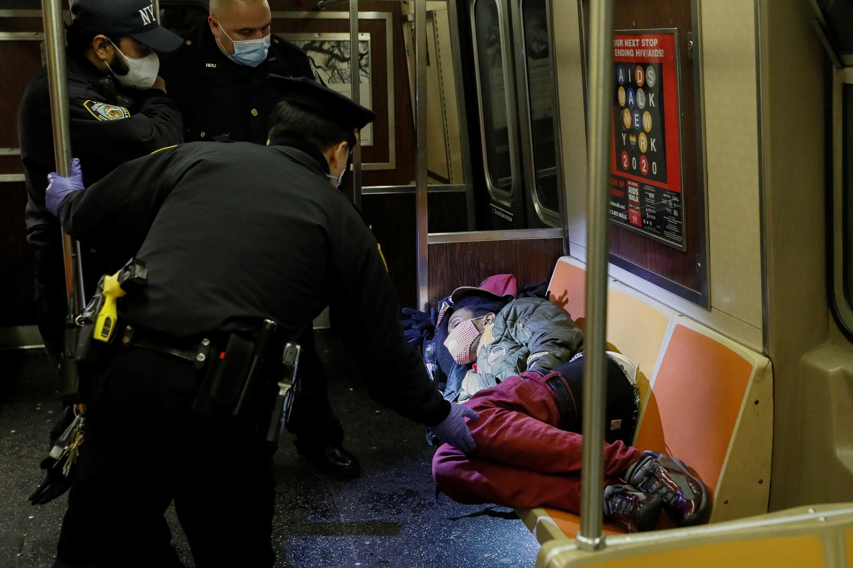sleeping passenger Manhattan