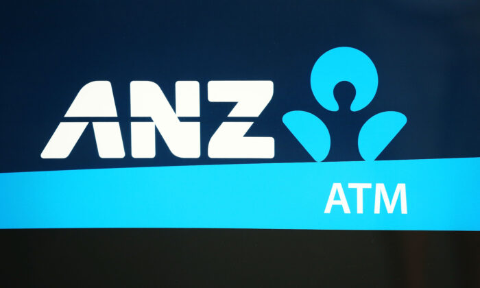 The ANZ logo is seen on an ATM machine on October 31, 2018 in Melbourne, Australia. ANZ has announced 2018 full year profits of $6.4 billion.  (Scott Barbour/Getty Images)