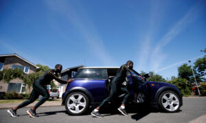 Jamaican Bobsleigh Team Push a Mini to Keep Olympic Dream Alive