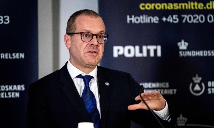 World Health Organization European Director Hans Kluge speaks at a press conference on COVID-19 in Copenhagen, Denmark, on March 27, 2020. (Ida Guldbaek Arentsen/Ritzau Scanpix/AFP/Getty Images)