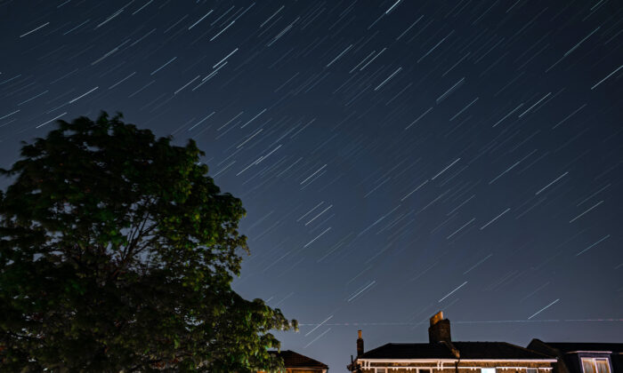 Stars illuminate the sky on a clear night in Forest Hill in London on April 20, 2020. (Simon Robling/Getty Images)