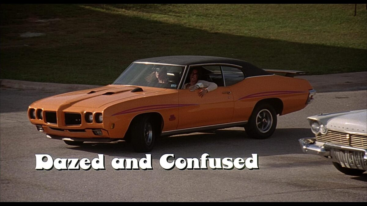 "two teens in a 1976 GTO in ""Dazed & Confused"""