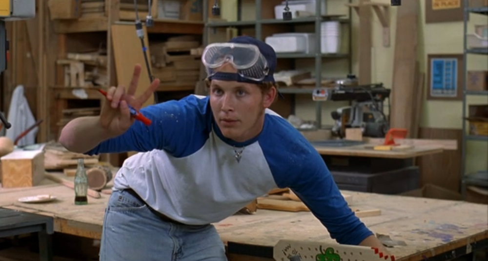 "boy in shop class in ""Dazed & Confused"""