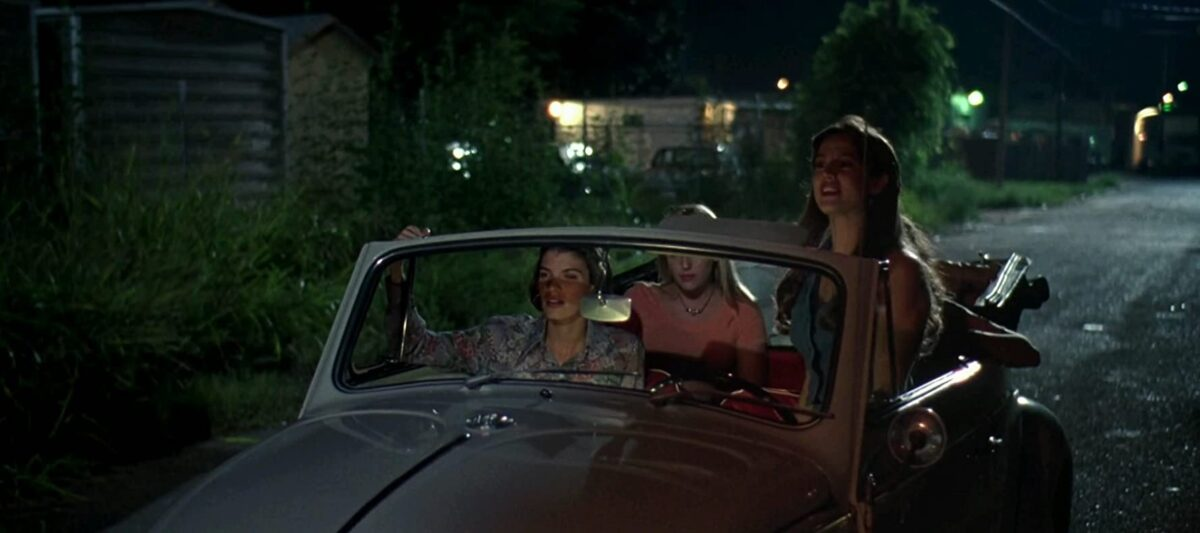 "3 girls in a VW bug in ""Dazed & Confused"""