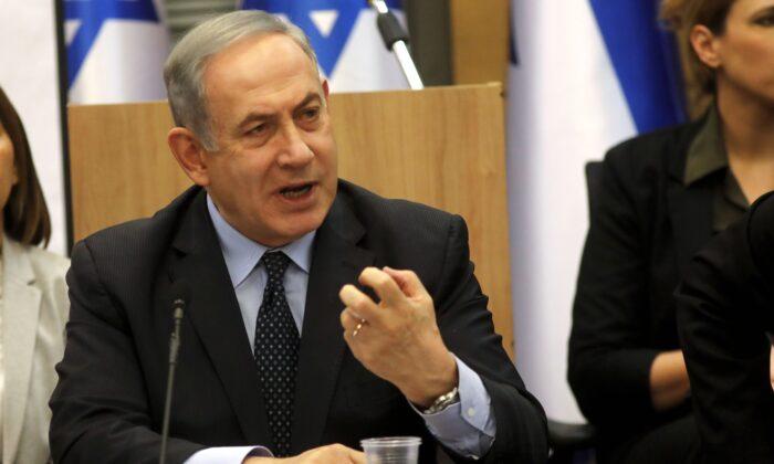 Israeli Prime Minister Benjamin Netanyahu speaks during a meeting at the Knesset (parliament) in Jerusalem on March 4, 2020. (Menahem Kahana/AFP via Getty Images)
