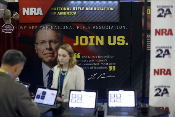 The booth of the National Rifle Association of America