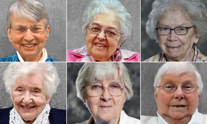 These six women, retired sisters from Our Lady of the Angels Convent in Greenfield, Wisconsin, tested positive for the CCP virus after their deaths. (Courtesy of Our Lady of the Angels)