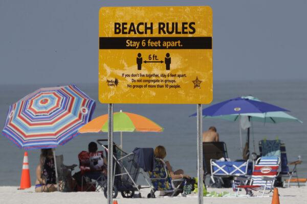 Beachgoers-sunbathe