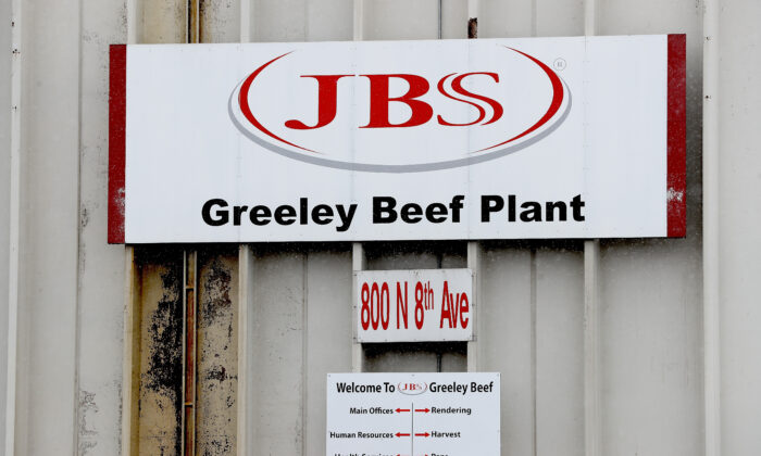 The Greeley JBS meat packing plant sits idle on April 16, 2020 in Greeley, Co. (Matthew Stockman/Getty Images)