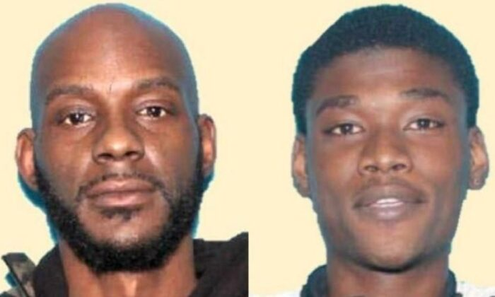 Warrants were issued for Larry Teague Jr., left, and Ramonyea Bishop. (Genesee County Prosecutor's Office)