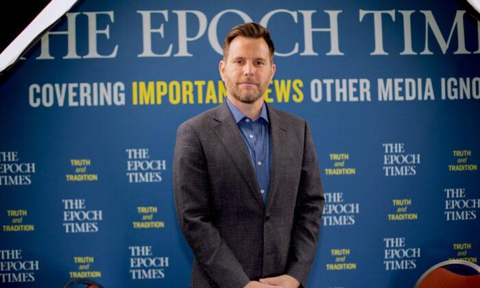 Dave Rubin, host of the Rubin Report, in West Palm Beach, Fla., on Dec. 21, 2019. (Brendon Fallon/The Epoch Times)
